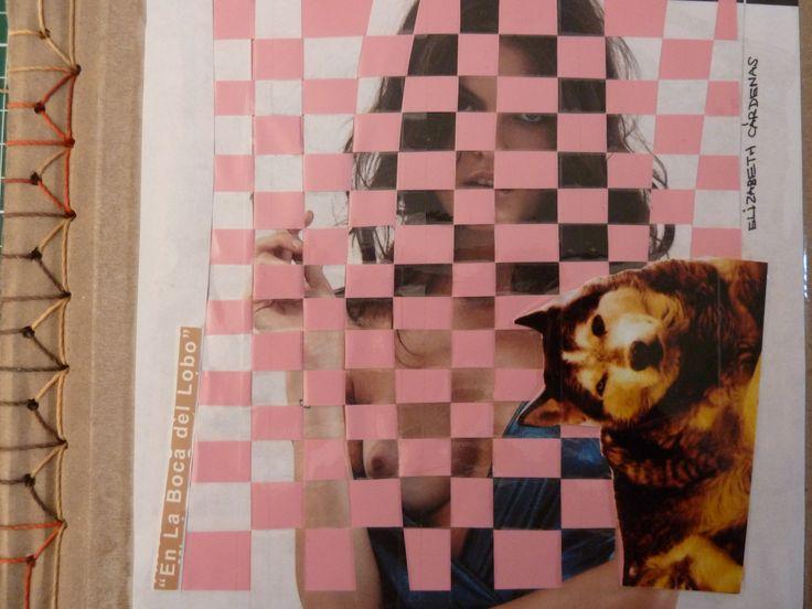 Poemario En la boca del lobo | Libros Cartoneros | La Joyita Cartonera | handmade books | cardboard | poetry | by Eli Cárdenas