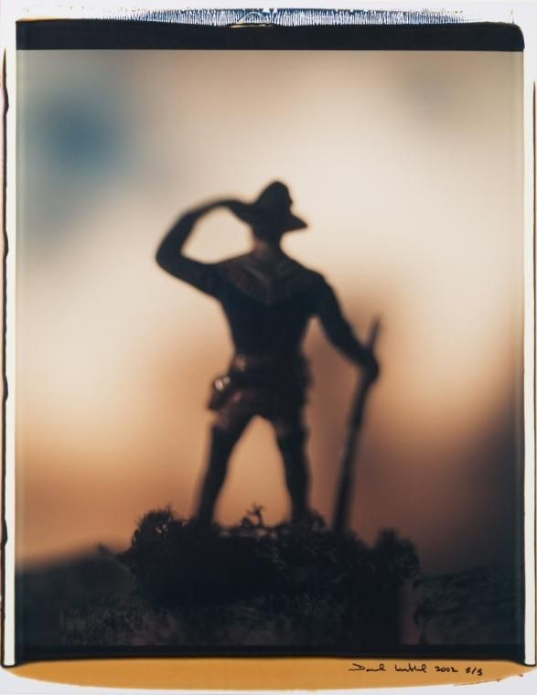 Photography | Denver Art Museum | David Levinthal. American (born 1949). Untitled (Standing Scout with Rifle). 2002, Dye diffusion transfer print. 2008.6. Gift in Memory of Ryan Taylor