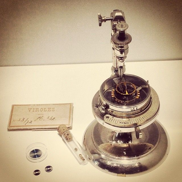 Regulation tool to measure and adjust the frequency of the balance spring, around 1930. #tbt