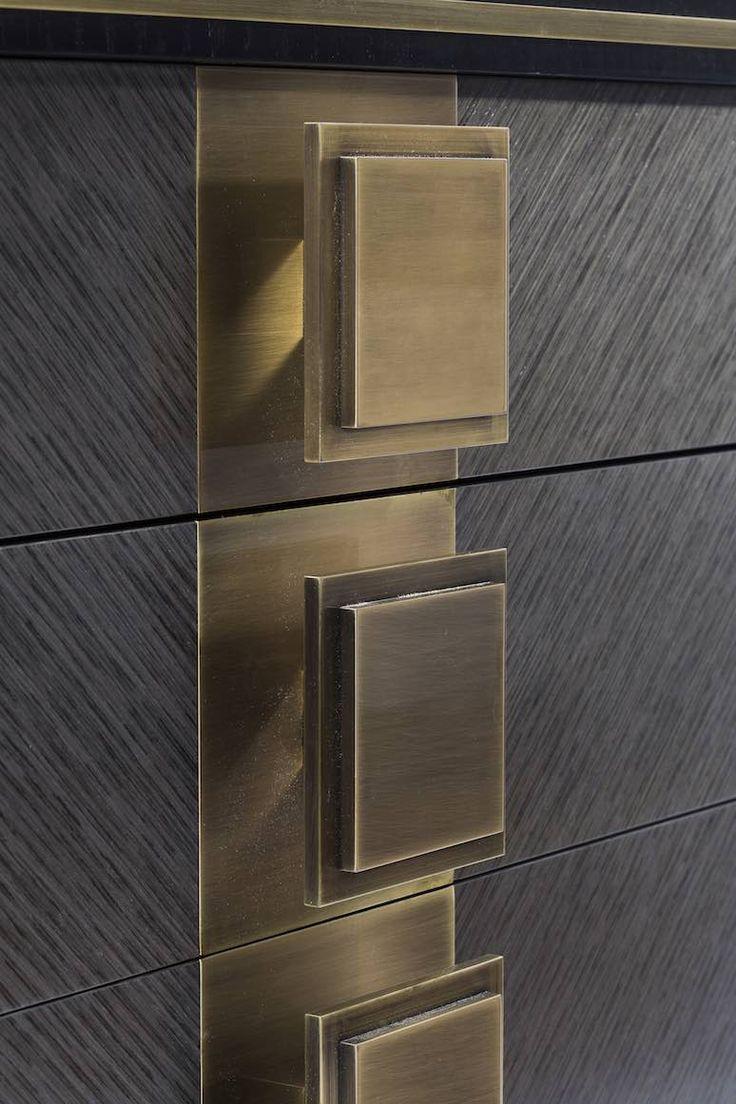 Love the brushed metal knobs. Brendan Wong Design.