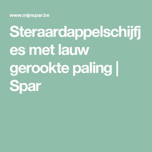 Steraardappelschijfjes met lauw gerookte paling   Spar