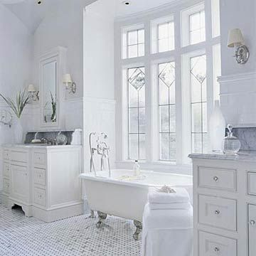 Better Homes and Gardens Large white bathroomBathroom Design, Tubs, Bathroom Interior, Beautiful Bathroom, White Bathrooms, Bathroom Ideas, Master Bathroom, Design Bathroom, Bathroom Windows