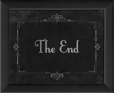 Silent Movie 'The End' Framed Artwork - traditional - Novelty Signs - The Artwork Factory