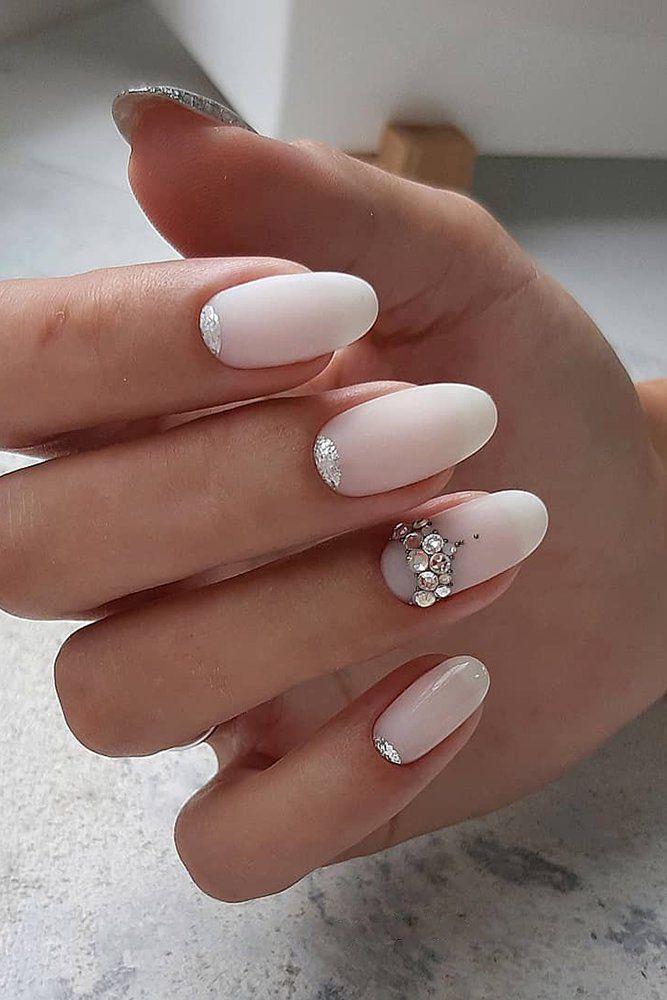 30 Perfect Bridal Nails Art Designs Wedding Forward In 2020 Bridal Nail Art Wedding Day Nails Nail Trends