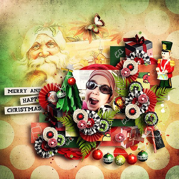 EXTRAORDINARY XMAS by Valentina's Creations template Cozy winter day 1. by Tinci Designs