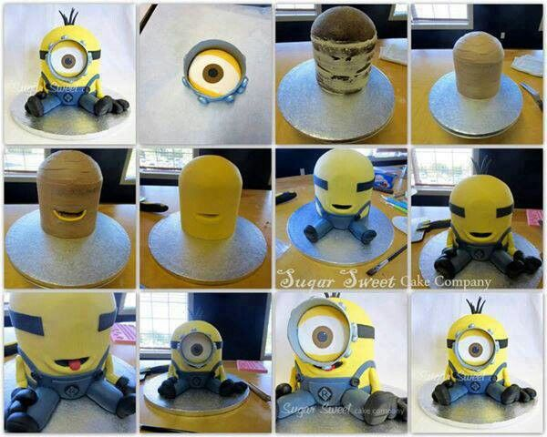 Easy Minion Cake Images : Minion cake tutorial! Cake Tutorials Pinterest ...
