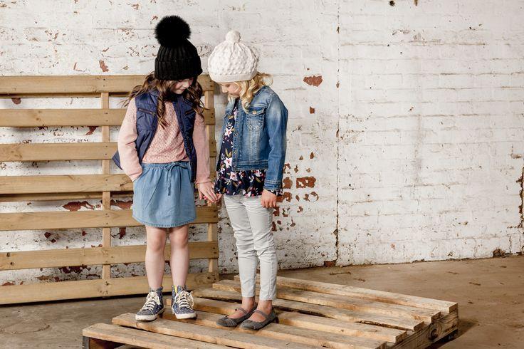 OUCH Kids Clothing #girlsfashion #kidsfashion #pink #winter #denim #photoshoot
