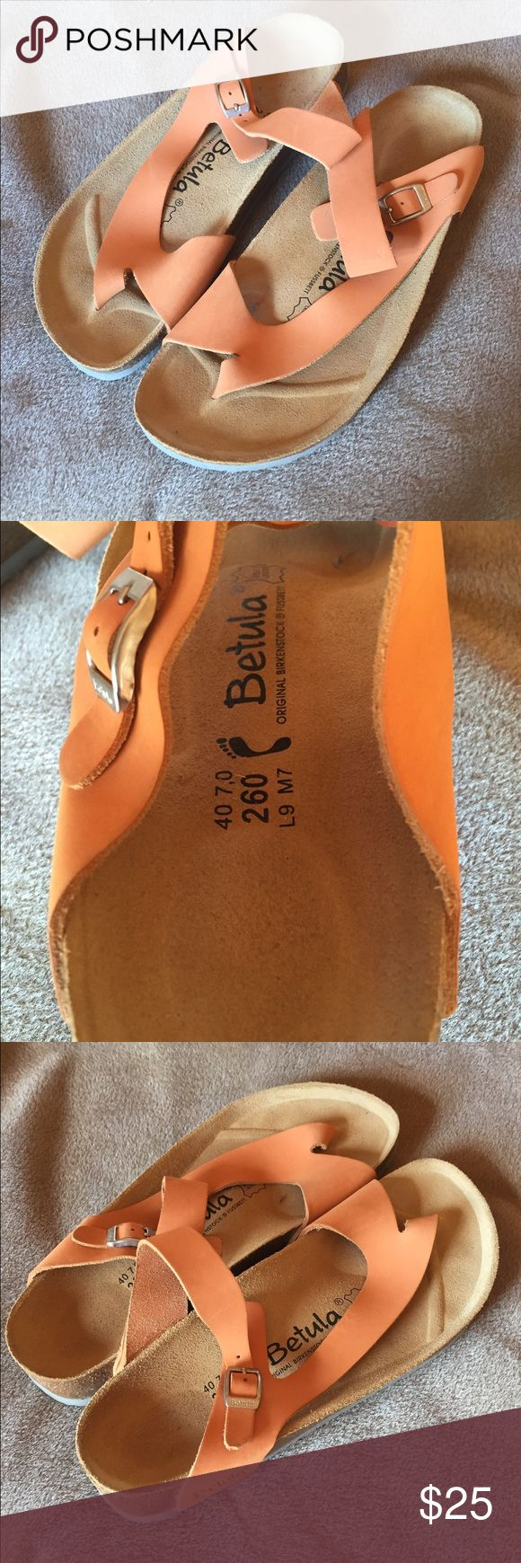 Orange Birkenstock Betula Sandals Size 40 Euro. New, without original packaging. Only tried on, never worn out. Birkenstock Shoes Sandals