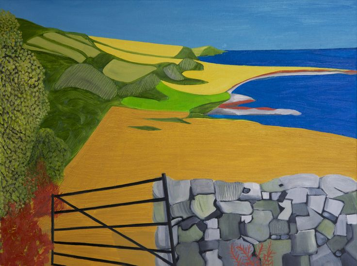 'Leaning gate, East Prawle'. Now sold and on display in South Africa.