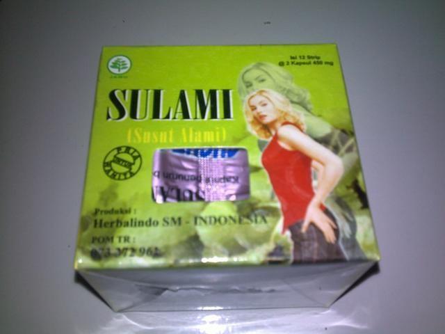 SULAMI (Susut Alami) ini terbuat dari bahan2 alami dari herbal dan telah terdaftar di POM SULAMI http://lianybeauty.blogspot.com/2012/09/pelangsing-herbal-sulami.html