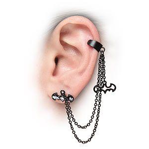 ThinkGeek :: Batman Ear Cuff | £8