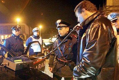 Venafro: fermati quindici automobilisti uno alla guida in stato di ubriachezza