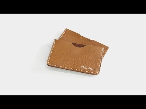 Leather D.I.Y making simple credit card wallet