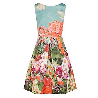 Women's Floral Prints Elegant Unbrella Dress – AUD $ 60.20