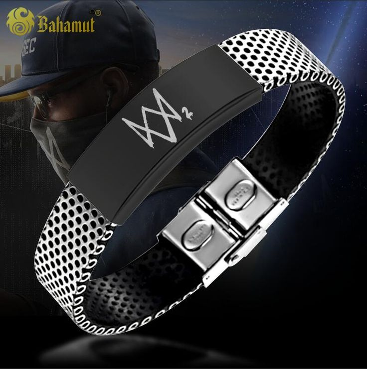 Watchdog Game Watch Dogs 2 Metrosexual Titanium Steel Bracelet Aiden Pearce Lettering