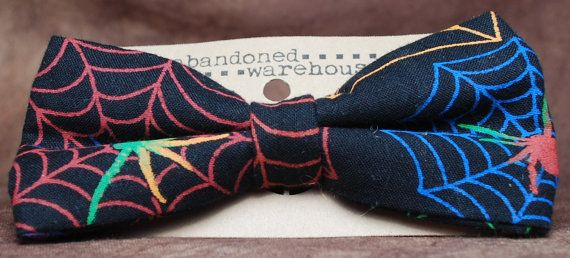 Spiderweb bow bow tie / hair bow by AbandonedWarehouse on Etsy