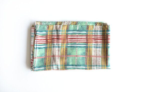 Check Pattern Tencel Scarf Men's Scarf Women's Scarf by MunaFabriC $19.00 - Shipping Worldwide! [Click Photo for Details]