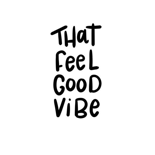 Feeling that feel good vibe today. ✌️