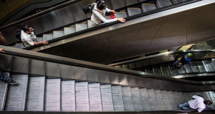 Inicia STC concientización a usuarios para uso de escaleras eléctricas
