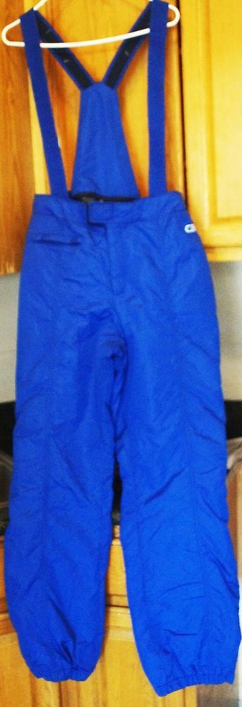 Vintage CB Sports Womens Size 16 Blue Ski Bibs Snow Pants Thermotex Insulated  #CBSports