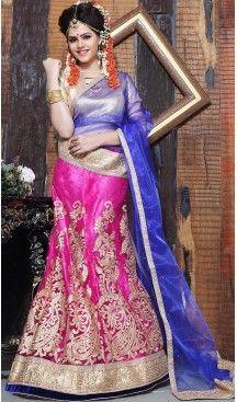 Deep #Pink Color Net A Line Style Party Wear Lehenga Choli | FH497176188 #heenastyle, #designer, #lehengas, #choli, #collection, #women, #online, #wedding , #Bollywood, #stylish, #indian, #party, #ghagra, #casual, #sangeet, #mehendi, #navratri, #fashion, #boutique, #mode, #henna, #wedding, #fashion-week, #ceremony, #receptions, #ring , #dupatta , #chunni , @heenastyle , #Circular , #engagement ,#treditional