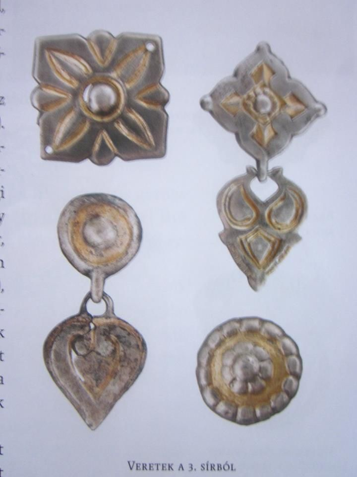 Kaftan female ornaments, gold plated silver from Harta