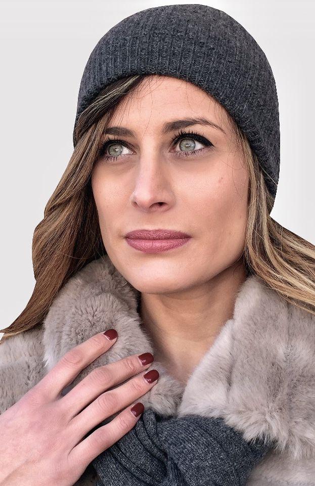 brand new cfdc4 e9f82 Cappello donna, berretto cachemire, cappello maglia ...