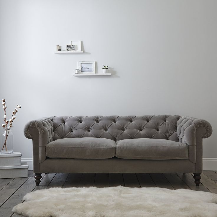 Hampstead Sofa Velvet | Sofas & Armchairs | Furniture | Home | The White Company UK