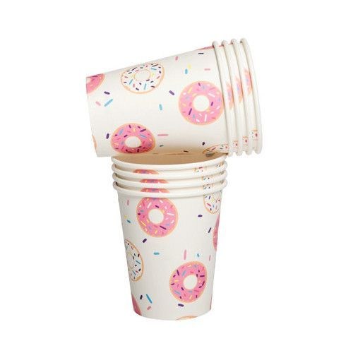 How sweet are these Donut Party Cups? They coordinate perfectly with our Donut Plates, Napkins and Inflatable Donuts!! Quantity: 10 Donut Cups per pack Dimensions: Each cup holds 9 oz.