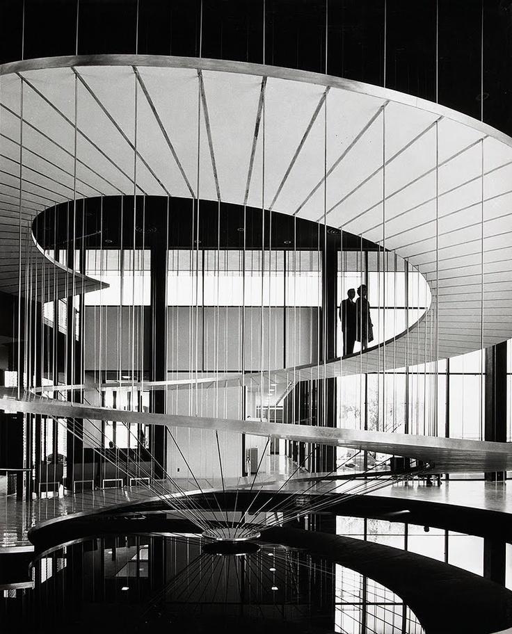 Staircase designed 1958 by Pereira & Luckman Architects, San Diego USA