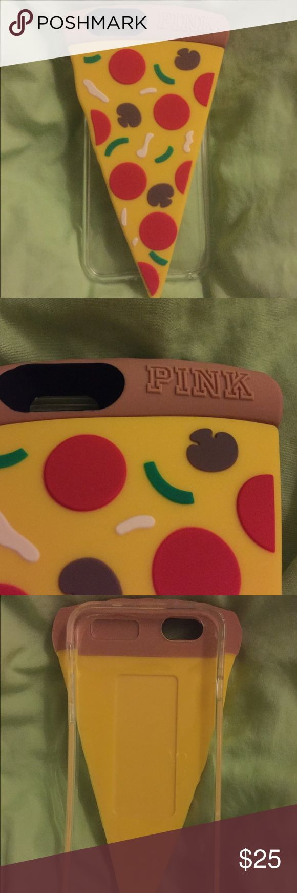 Victoria's Secret PINK pizza iPhone 6 case Brand new, never used. Made by Victoria's Secret PINK to fit the iPhone 6 or 6s! PINK Victoria's Secret Accessories Phone Cases