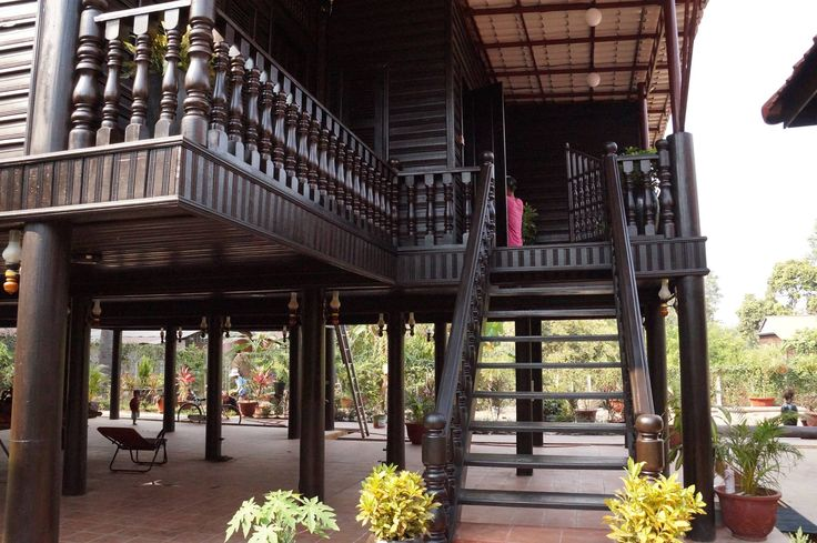 Cambodian/ khmer wooden architecture
