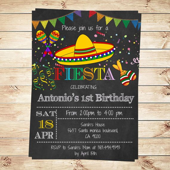 Birthday Mexican Fiesta Party Invitations - Printable Kid's Mexican Fiesta Invitation - Fiesta Party - Mexican - DIY Party Invitation