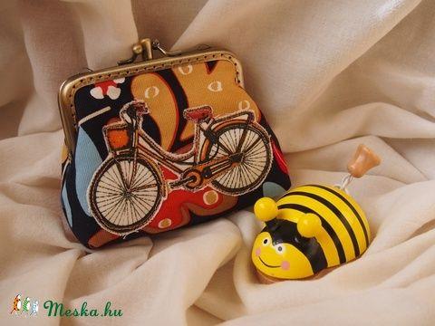 Biciklis duplacsatos tárca (kicsicsip) - Meska.hu