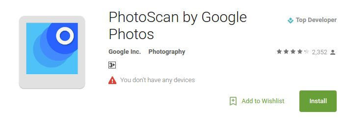 PhotoScan by Google Photos is a new app to help people digitise their old printed photos, which might be a part of old photo albums