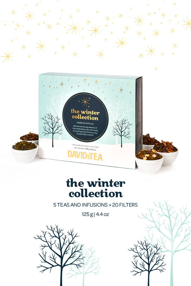 The Winter Collection - Try all five of our limited edition winter teas with this giftable box.