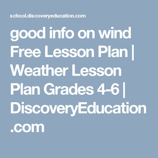 good info on wind Free Lesson Plan   Weather Lesson Plan Grades 4-6   DiscoveryEducation.com