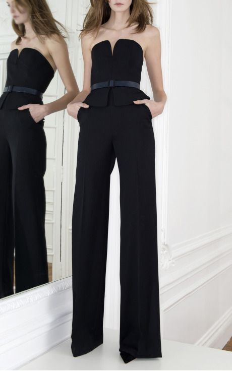 @Charlotte Anne Clothing will have a black strapless jumpsuit available 4/15. Martin Grant Trunkshow Look 27 on Moda Operandi