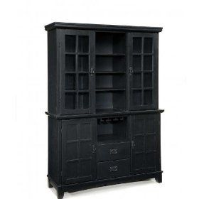 Home Styles Arts and Crafts Dining Buffet with Hutch in Ebony $713.18Dining Room, Crafts Buffets, Art Crafts, China Cabinets, Crafts Spaces, Furniture Redo, Art And Crafts, Arts And Crafts, Furniture Decor