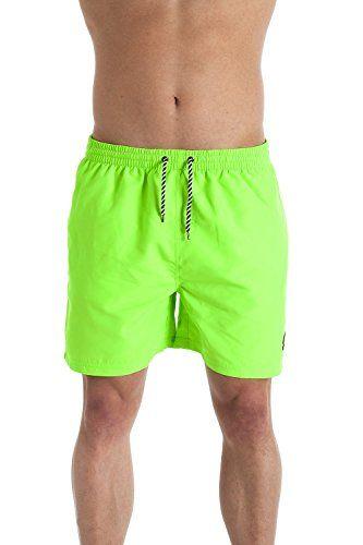 Indian Affair Mens Swimwear Neon Green Swimming Shorts