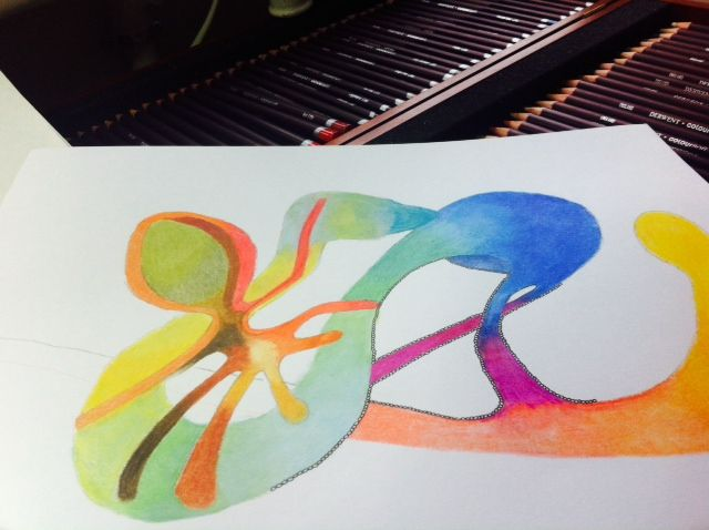 Mijn ''onder de kerstboom cadeau'  coloursoft van Derwent 72 kleurpotloden geven een prachtig resultaat