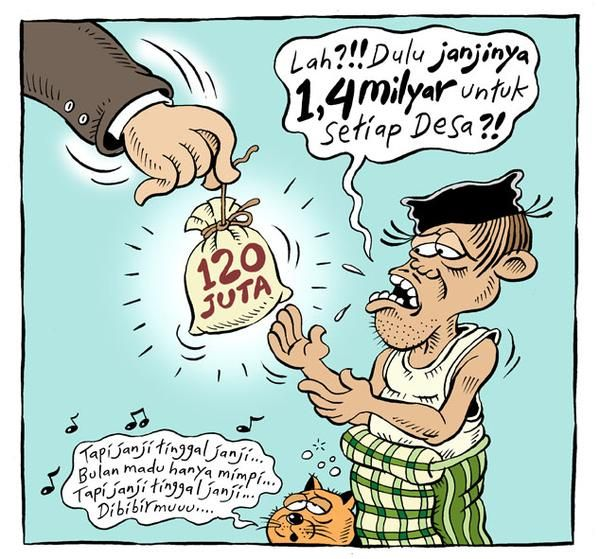 Mice Cartoon, Rakyat Merdeka - Januari 2015: Janji Tinggal Janji