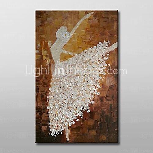 Hånd-malede Abstrakt / Mennesker Oliemalerier,Moderne / Traditionel Et Panel Canvas Hang-Painted Oliemaleri For Hjem Dekoration 2016 - R$270.37