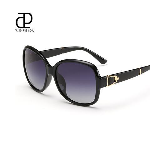 FEIDU Sunglasses Women Brand Original Designer Luxury Butterfly Pattern Points Women Retro Vintage Uv400 Oculos De Sol Wirh Case