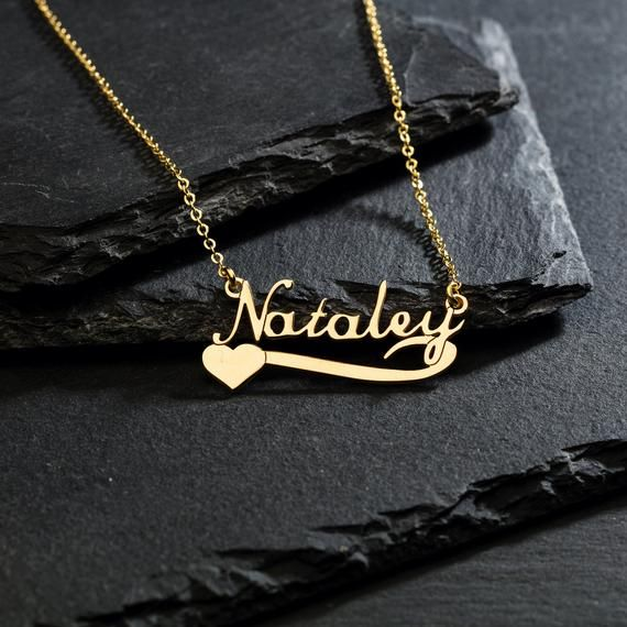 Gift for Her Handmade Personalized Name Necklace Name Necklace Gold Personalized Jewelry Font3 Custom Name Necklace in Sterling Silver
