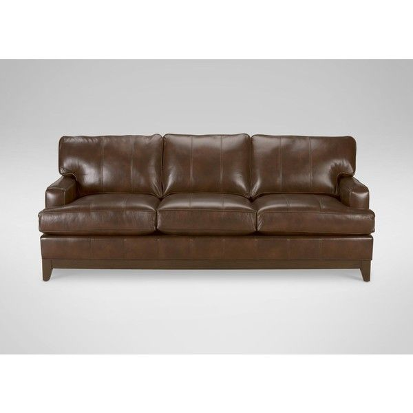 companies wellington leather furniture promote american. Ethan Allen Arcata Leather Sofa, Quick Ship ($3,099) ❤ Liked On Polyvore Featuring Companies Wellington Furniture Promote American
