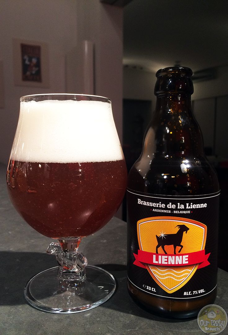 16-Mar-2015 : Lienne by Brasserie de la Lienne - A Belgian Pale Ale from the heart of the Ardennes. Nice bitterness, with hints of citrus. #ottbeerdiary