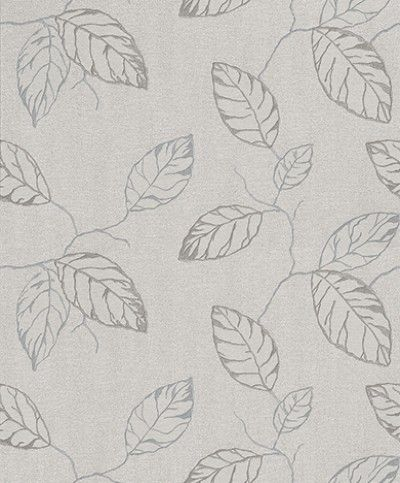 Clear Spirit (CSA-006-07-7) - Grandeco Wallpapers - A large scale, all over wallpaper design featuring leaves with trailing branches. Shown here in various shades of grey on a grey background. Other colourways are avialble. Please request a sample for a true colour match. Paste the wall. Pattern repeat is 64cm.