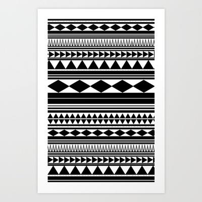 Tribal #5 Art Print by Haleyivers - $18.00