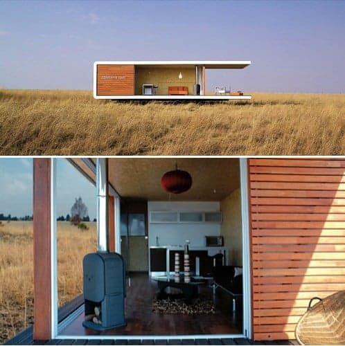 Diseñada por Eric Bigot, la casa prefabricada ZenKaya es un moderno modelo de vivienda sostenible, construida con paneles estructurales aislantes (SIPs).